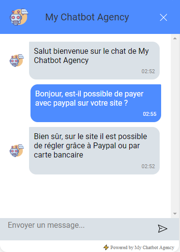 chat widget with discussion